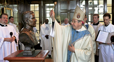 Auxiliary Bishop Denis Madden of Baltimore was the principal celebrant of a Mass associated with dedication of a bust of Father McGivney at Saint Mary's Seminary and University.